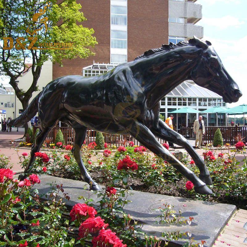 metal horses sculpture