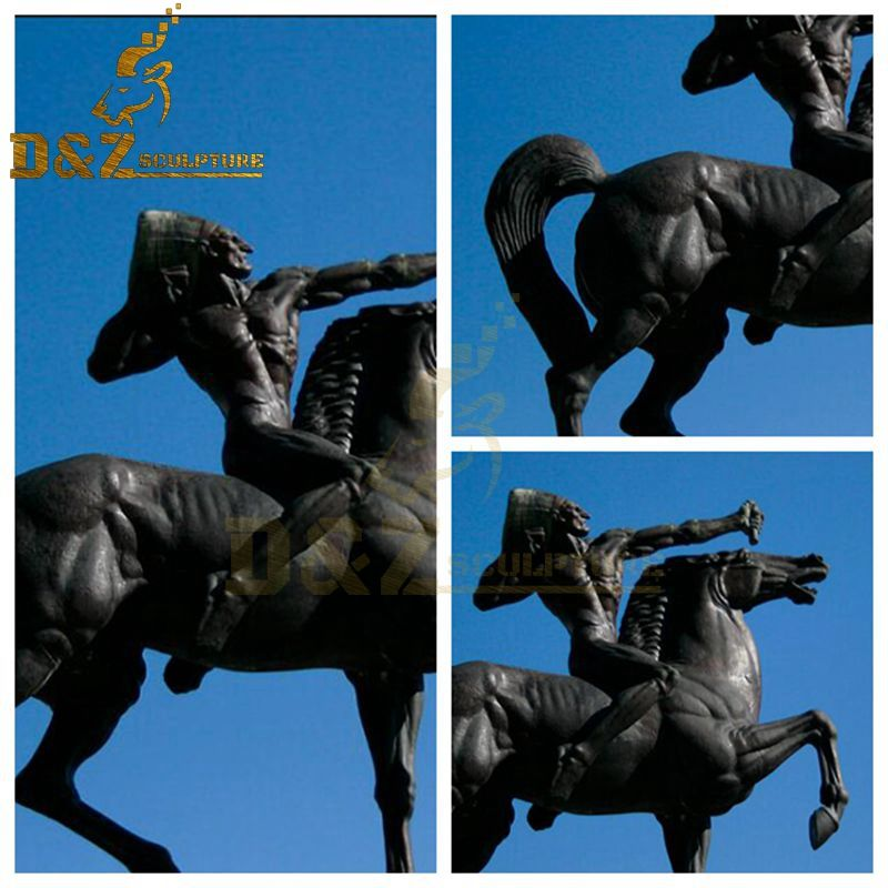 indian on horse sculpture