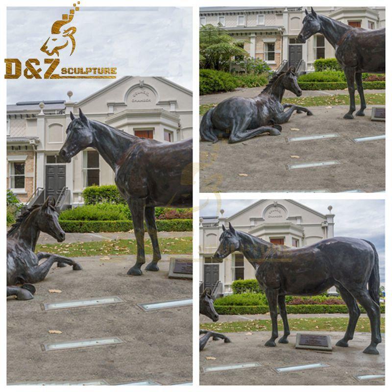 garden horse sculptures