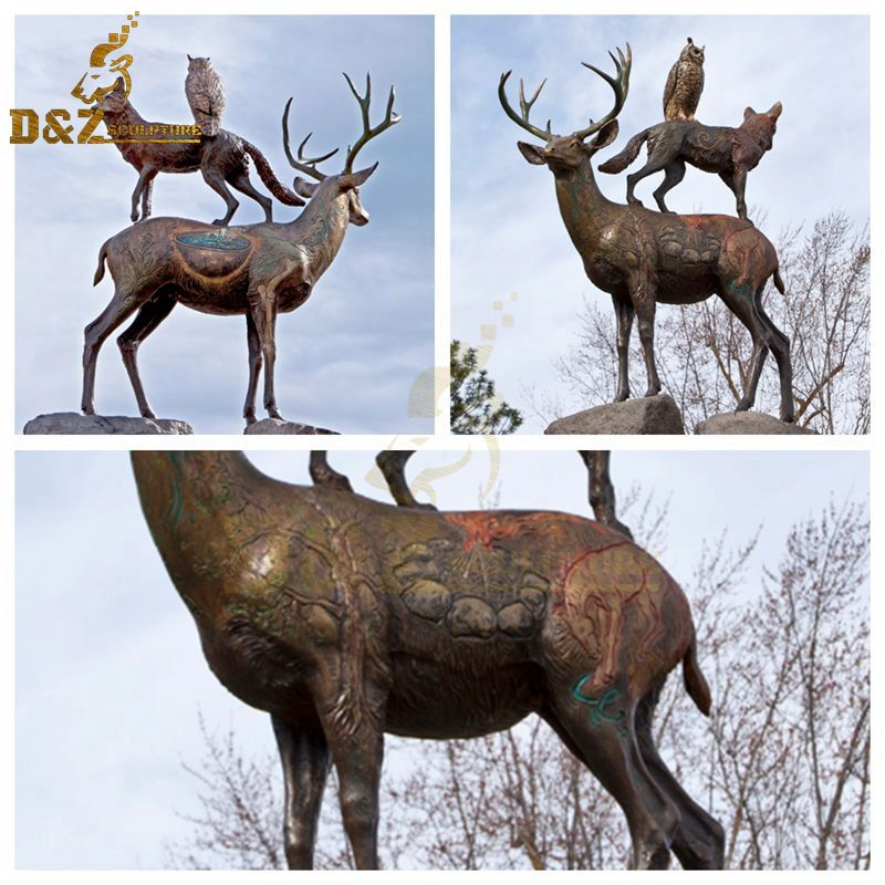 life size deer sculpture