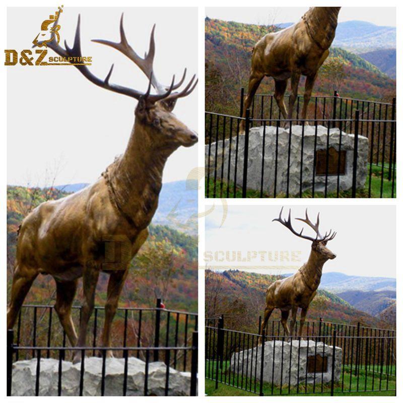 metal reindeer statue