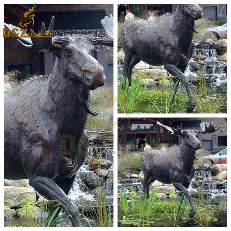 life size moose sculpture