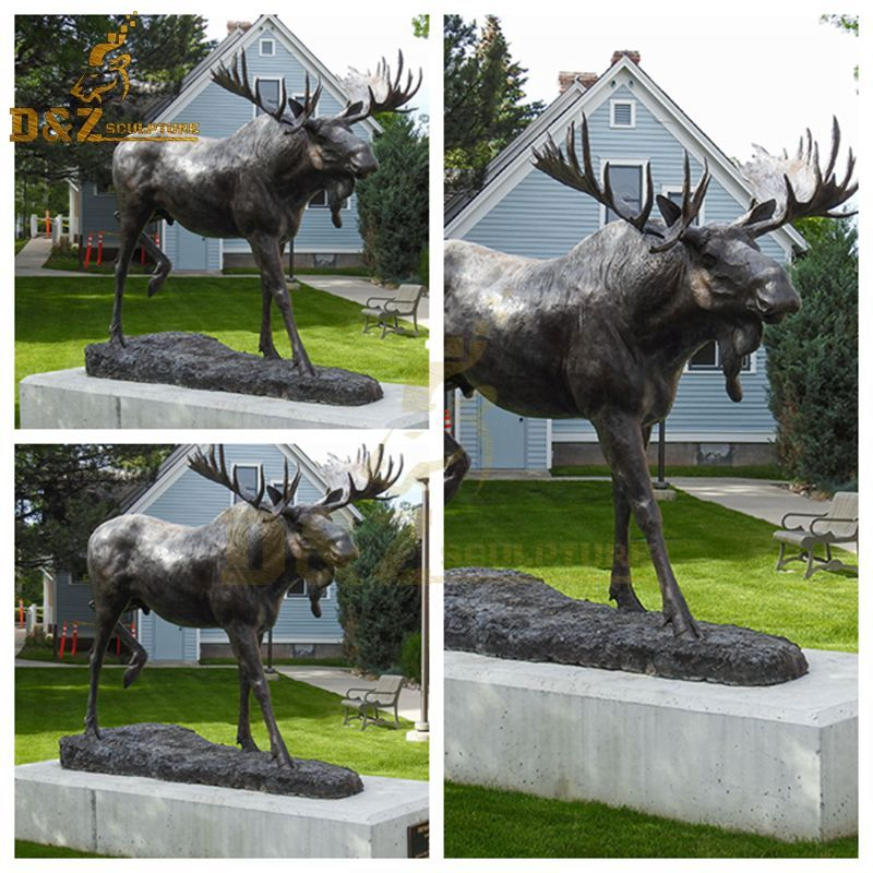 moose metal sculpture