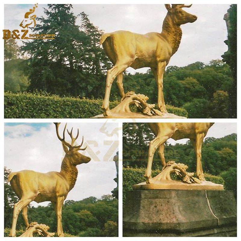 golden deer sculpture