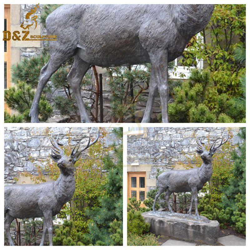 standing deer statue