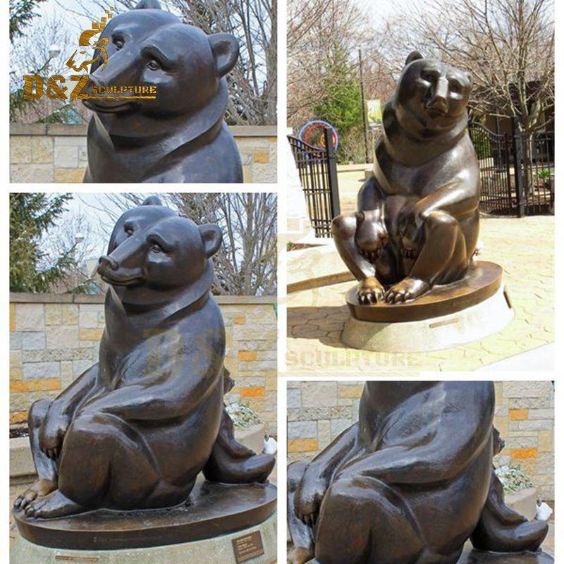 sitting bear statue