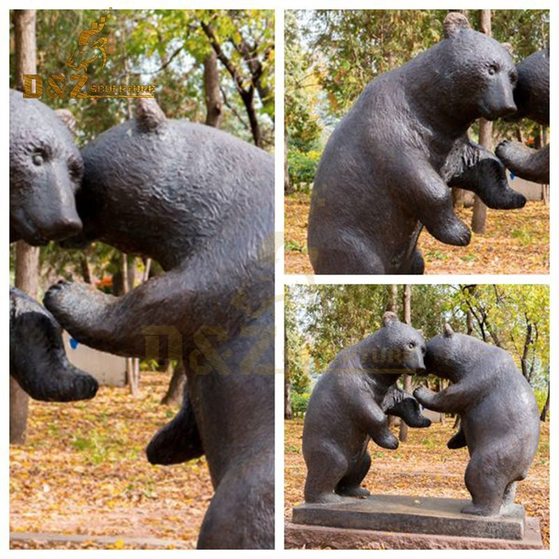 bear metal sculpture