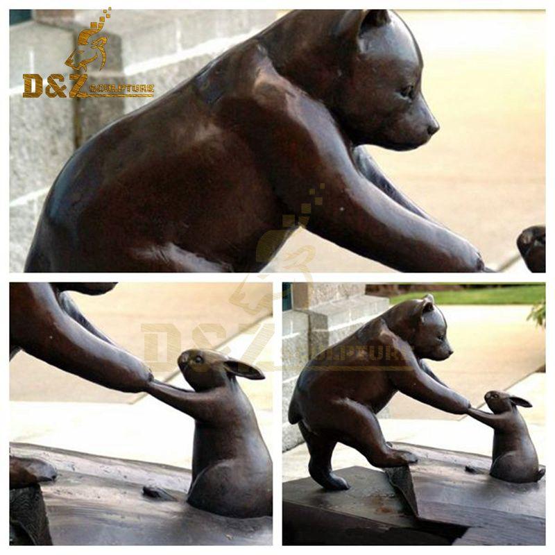 bear and rabbit sculpture